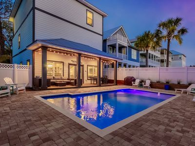 Photo for Private, quiet, large pool, golf cart, close to the beach, close to Seaside!