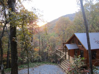 Photo for Perfect Couples Retreat, Private Cozy Cabin with a Great Mountain View!