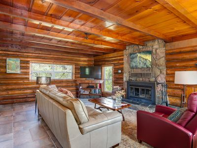 Photo for Rustic luxury hideaway on 40 private acres - newly renovated