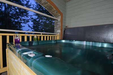 Private Hot Tub On Lower Deck.  Totally Awesome!!