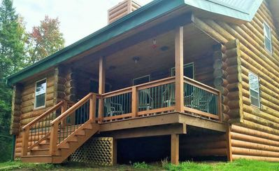 Photo for Authentic 3 Level Log Cabin. 3 Bedrooms, 3 Baths