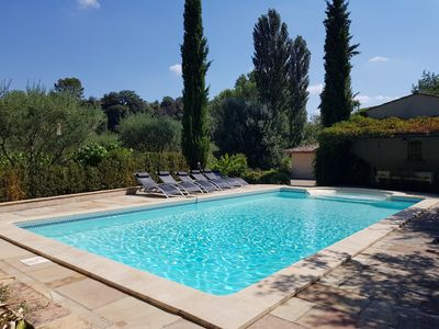 Photo for Air-conditioned villa for 8 with peaceful pool 7 minutes walk from the village.