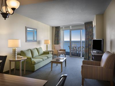 Photo for Oceanfront 2 Bedroom Condo at Great Resort + Official On-Site Rental Privileges