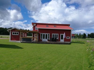 Large high standard holiday house, sauna, outdoor pool, boat