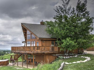 Photo for Spectacular Views of the City of Red Lodge, Beartooth mountains, WiFi, dog friendly, hot tub, AC, an