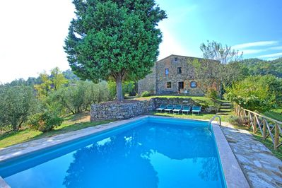 Private pool at Villa Palazzone (9 x 4 metres, depth 1,5 metres)