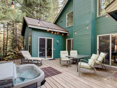 Photo for NEW LISTING! Woodsy cabin w/ hot tub, & shared pool-near the lake & dining
