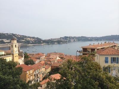 Photo for Elegant Villefranche apartment with panoramic view of bay, sea, and village