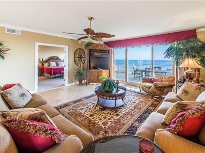 Photo for Beautiful Gulf Views from the Balcony & Short Walk to the Beach & The Back Porch Restaurant!