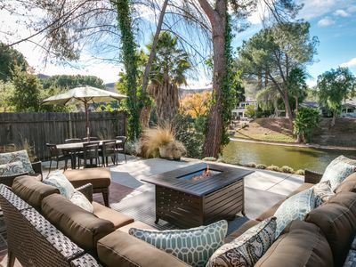 Photo for 3BR, 2BA Agoura Hills House w/Landscaped Patio On Edge of Lake Lindero