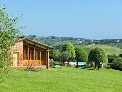 Photo for Wonderful private villa with pool, A/C, WIFI, TV and parking, close to San Gimignano