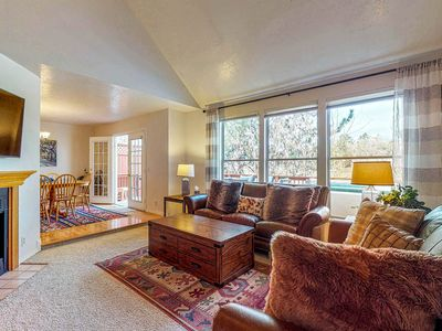 Photo for Terrific, central location for ski resort access w/ private hot tub & fireplace