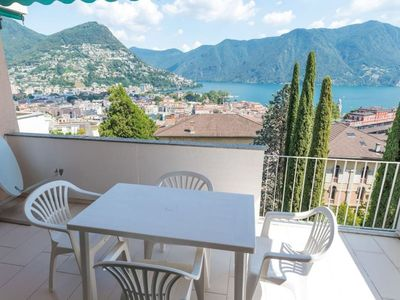 Photo for Elegant Penthouse with view  on the Gulf of Lugano - BELGOLFO ATTIC
