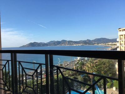 Photo for Vacation apartment 610 with balcony and sea view, right on the beach