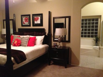 Master Bedroom and Master Bath view