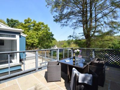 Photo for This holiday home has an enviable vista across the Lamorna Valley.
