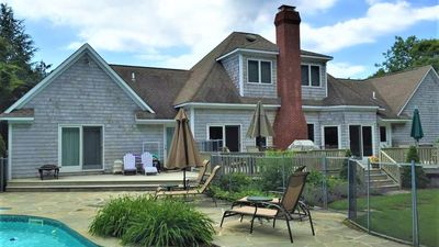 Photo for New Listing: Relaxed & Welcoming Home Near Town & Beach w/ Heated Pool, Fireplace, Play Structure