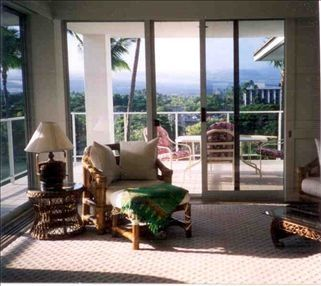 looking out from living room to lanai
