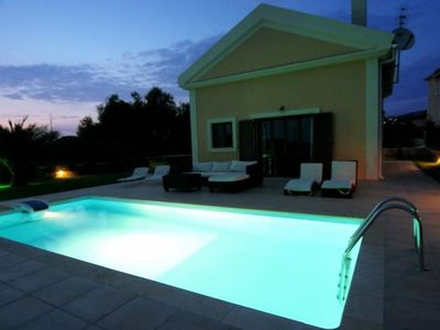 Photo for Beach Villa Anthia - Jacuzzi - Private Pool