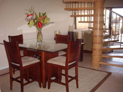 Airie and spacious dining room