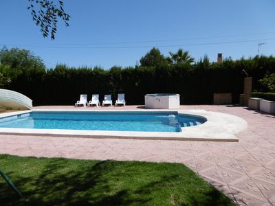Photo for ALICANTE CHALET WITH POOL 13P. CLOSE BETTER BEACHES