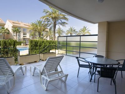 Photo for Ground floor 2 bedroom apartment, overlooking the pool in Javea
