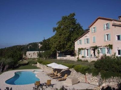 Photo for Stunning Villa Cote d'Azur Pool Outstanding Panoramic Views 7 mns walk to