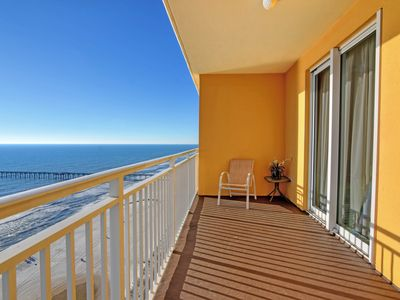 Photo for Waterfront condo w/ a balcony overlooking the Gulf - shared pool & gym on-site
