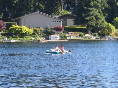 Photo for Beautiful Lakefront - Cozy Home - Steel Lake