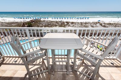 Breathtaking view from your vacation home - Enjoy the crystal blue pool or the crystal blue Gulf!
