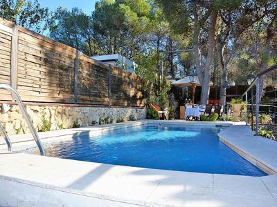Photo for Villas Sitges Verde. 5 minutes from the beach by car Porch, 2 Chill-out.