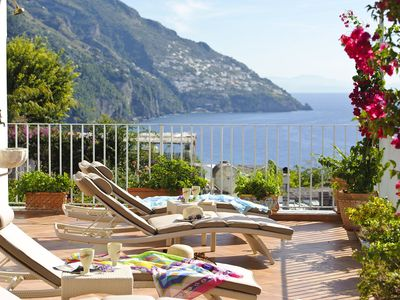 Photo for Villa Roberto, 4 bedrooms, in Positano centre 500 m away from the beach.