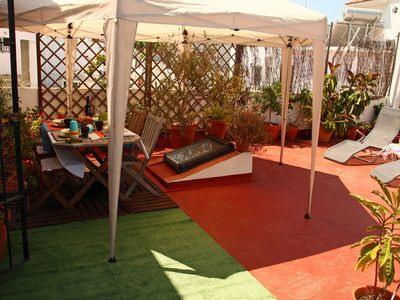 Photo for Apartment terrace, wifi, air conditioning and parking option (additional cost)