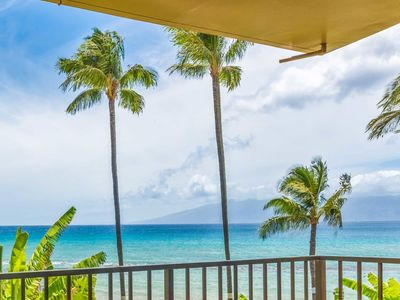 Photo for Wave Watch on Private Lanai! Casual w/Full Kitchen, WiFi, Ceiling Fans–Paki Maui 209