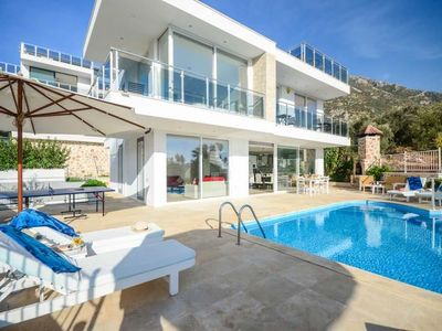 Photo for 4 bedroom Villa, sleeps 8 in Kalkan with Pool, Air Con and WiFi