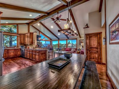 Photo for Renovated Luxury Lake View Mountain Home - secluded with hot tub, pool table