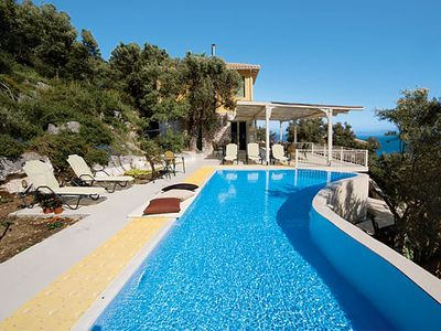 Photo for Tranquil villa w/ stunning views, pool & Wi-Fi. Short drive to Sivota