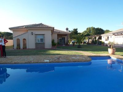 Photo for luxurious house for 8-10 persons, with large private pool and suptropical garden, with extra guesthouse at the pool and barbecue-aerea de luxe, some 5-10min from the beaches.