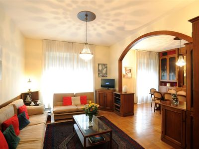 Photo for Large, bright apartment in city center, walking distance to piazza Duomo & more
