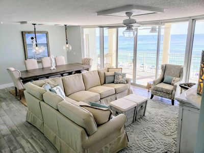 Photo for VIEWS VIEWS VIEWS PCB Directly Gulf-Front Newly Renovated  Condo