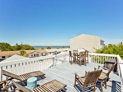 Photo for Great Views from Rooftop Deck, Large Beautifully Furnished Screened Porch, Pet Friendly - Must See!