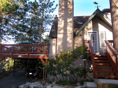 Photo for Beautiful home with huge flat backyard, free lake access, close to village
