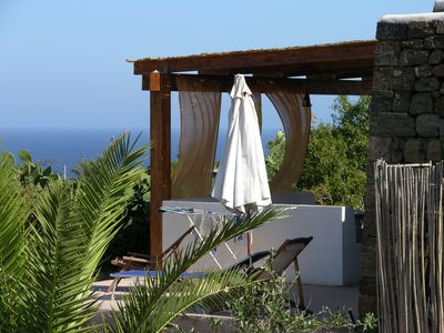 Photo for Pantelleria (dammuso) sea view villa quiet and unforgettable sunsets