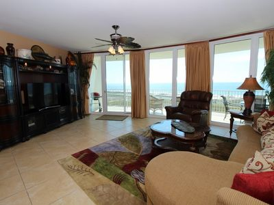 Photo for Caribe C1212- Lovely Gulf View,Large Terrace,Lazy River,Pool Slides!