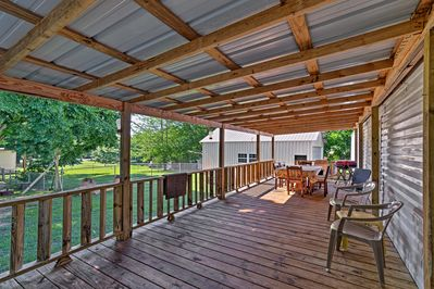 Waterloo will whisk you away at this vacation rental home!