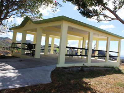 Photo for Carribean Vista House, on 5.5 acres, mountains view, sunsets , huge gazebo,
