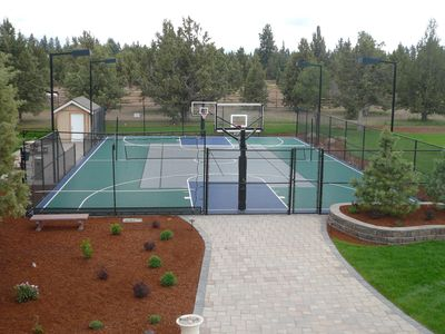 Enjoy the great outdoors on the sport court!