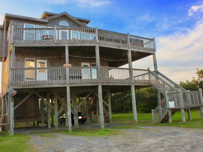 Photo for Steps To National Seashore w/ HotTub. Oceanfront, Sound, & Lighthouse Views!