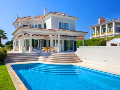 Photo for Luxury Vale do Lobo villa with sea views, private swimming pool, jacuzzi and table tennis. J141