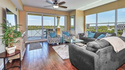 Photo for Indian Shores Intracoastal! 2017 Dolphin Key Corner Unit #506 with Gulf Beaches right across the street! FREE Wi-Fi, Cable, and Phone!